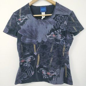 Kenzo Jeans Graphic Print T Shirt Large